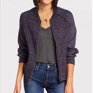 Free People Naomi Sweatshirt Jacket-Purple NWT Med